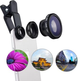 Harga Universal Clip Lens Quality 3in1 Fish Eye Macro Wide for All Smartphone
