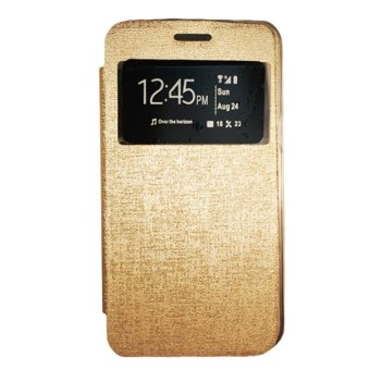 Harga Gea Flip Cover BlackBerry Q5 - Gold