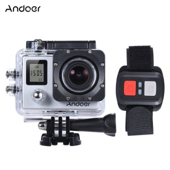 "Harga Andoer 4K 30fps/1080P 60fps Full HD 16MP Action Camera Waterproof 30m WiFi 2.0""LCD Sports DV Cam Camcorder 170 Degree 4X Zoom Dual Screen Car DVR w/ Remote Control Outdoorfree"
