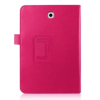 Harga PU Flip Leather Cover for Samsung Galaxy Tab S2 8.0 inch SM-T710/ T715 (Rose Red)