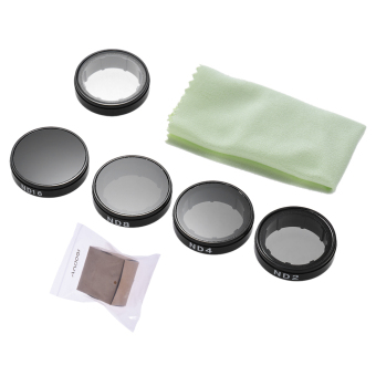 Harga Andoer Round Lens Filters Kit Set(ND2/ND4/ND8/ND16/UV) Protector Protective Glass for GoPro Hero4/3+/3 - Intl