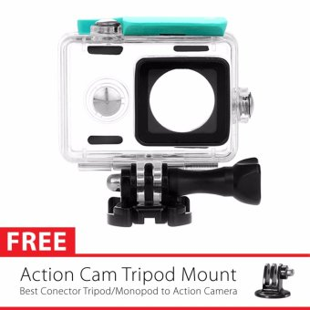 Harga KingMa Original Waterproof Case / Housing Underwater Versi 3 - 2017 for Xiaomi Yi Action Camera - Hijau