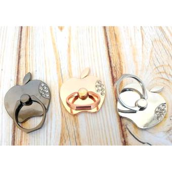 Harga Lucky - iRing / Ring stand - iRing Model Apple - I Ring Besi Stainless Chrom Stand Kilap Bentuk Apple