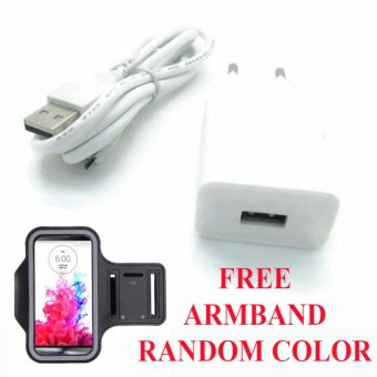 Safe Charger with Kabel USB for Xiomi Mi Note 2 + Free Armband - Putih