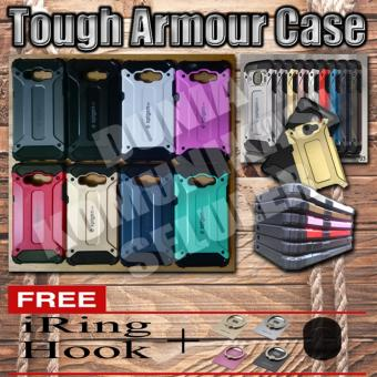 Harga Elegant Case Iron Tough Armour Samsung Galaxy J3 / J3 2016 - Hijau + Gratis Iring + Hook