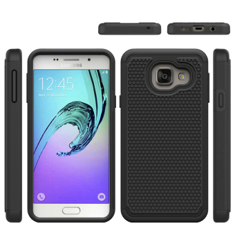 For Samsung Galaxy A3(2016) A310 Case Heavy Duty Armor Shock Absorbing Dual Layer Hybrid Rugged Rubber Cover Case - intl