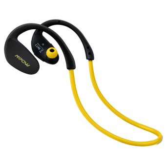 Harga Mpow Cheetah Bluetooth 4.1 Wireless Headphones Stereo Sport Running Gym Exercise Headsets Earphones Hands-free Calling Car Earbuds-Yellow