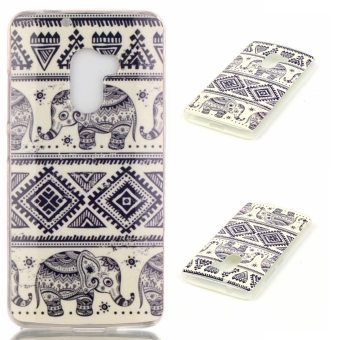 Slim Fit Soft TPU Back Case Cover For Lenovo K4 Note A7010 (Tribal Elephant)