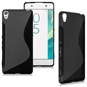 Soft Gel S-Line TPU Silicone Case Cover for Sony Xperia XA-Black -