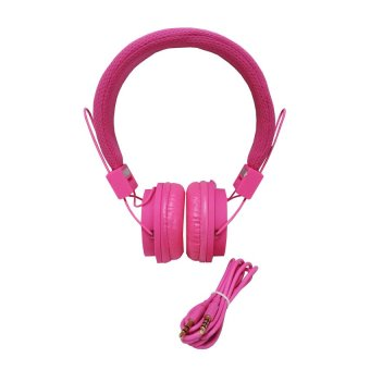 Harga Audio Headset EX09i + Mic High Quality - Pink