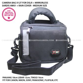 Harga CAMERA BAG X12T SARDIS AW01 + RAIN COVER MEDIUM SIZE - FOR DSLR + MIRRORLESS CANON, NIKON, SONY, PANASONIC, FUJIFILM, ETC