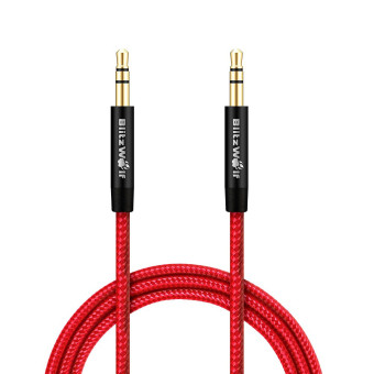 Harga Blitzwolf 3.5mm To 3.5mm Aux Braided 1m Audio Cable For Car iPhone 6 6Plus 5 Samsung Xiaomi Speaker (Red)