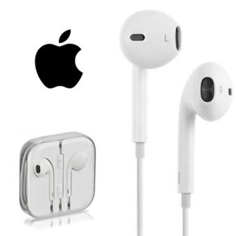 Harga Apple Handfree / Headset / Earphone In Earbud Stereo Audios HD Universal Support - Putih