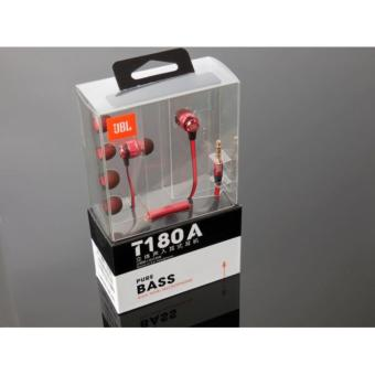 JBL Stereo in- Ear Headphone - T180A RED
