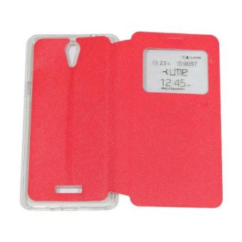 Harga Ume CoolPad Sky 3 E502 Flipshell / Flip Cover Coolpad Sky 3 / Leather Case / Sarung Case / Sarung Handphone / View - Merah