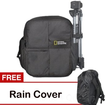 Harga Third Party Tas Kamera Ransel National Geographic - Hitam + Free Rain Cover