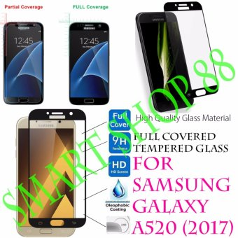 Harga Smart Full Cover Tempered Glass Warna for Samsung Galaxy A5 (2017) - Hitam