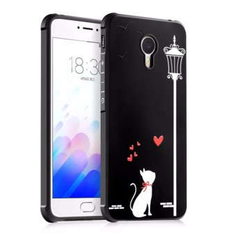 COCOSE Phone Case For Meizu M3 Note Silicone TPU Back Cover Love Cat Painting Shockproof Waterproof