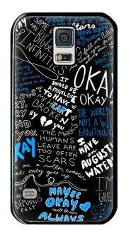 Harga Petrel Okay Infinites Printing Phone Case Cover for Samsung Galaxy S5 Black