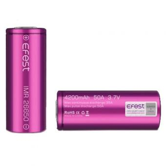 Harga Efest IMR 26650 Battery 4200mAh 3.7V 50A with Flat Top - 26650V1 - Purple