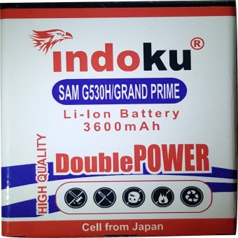 Harga Indoku Battery Double Power for Samsung Galaxy Grand Prime / G530H (3600 mAh)