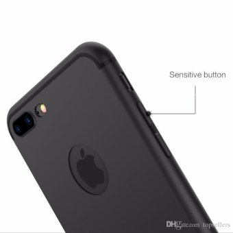 Harga Slim Silicone Iphone 7+/7 Plus Anti Dust Casing Softcase TPU Case Karet - HITAM