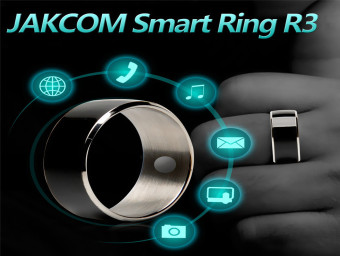 Harga JAKCOM R3 NFC Technology Magic Smart Ring Black for Android IOS Windows Phone 12# Size - intl