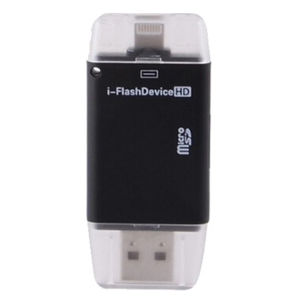 Harga OTG i-FlashDrive External Storage OTG Card Reader for Apple iPhone / iPad - Black