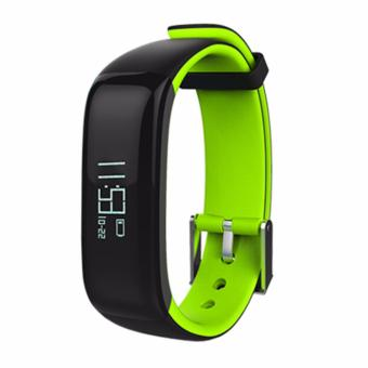 "Harga P1 Bluetooth Smartband Blood Pressure Monitor Heart Rate Monitor Wristband Waterproof IP67 Smart Bracelet Wearable 0.86"" OLED - intl"