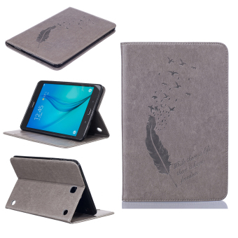 Feather PU Leather Case Flip Wallet Stand Cover for Samsung Galaxy Tab A 8.0 T350 (