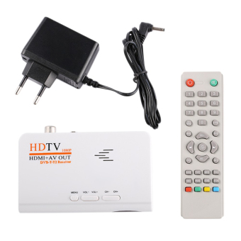 Harga HDMI HD 1080P dvb-t2 kotak TV AV CVBS penyetem penerima + Remote Control - International