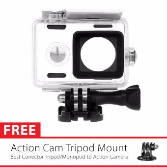 Harga KingMa Original Waterproof Case / Housing Underwater Versi 3 - 2017 for Xiaomi Yi Action Camera - Putih