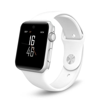 BLN DM09 Bluetooth Smart Watch 2.5D ARC HD Screen Support SIM Card SmartWatch Magic Knob For IOS Android System (White) - intl