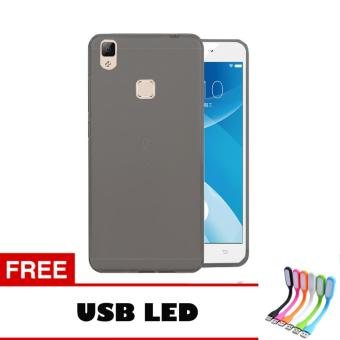 Harga Softcase Vivo V3 Max Ultrathin Aircase - Hitam + Free Usb Led