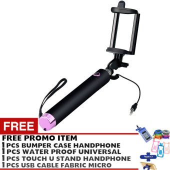 Harga Pokeshop Premium Tongsis Black Edition Tongsis kamera Action- Ungu - Free Touch u stand hp + Bumper Hp + Waterproof for smartphone + Kabel Data Fabric