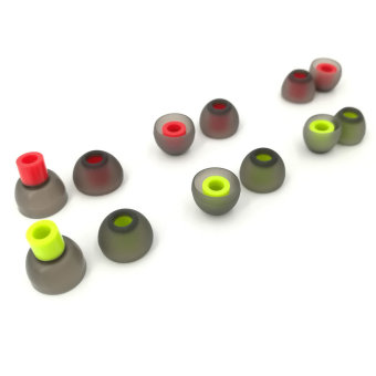 Harga misodiko 12pcs Replacement Silicone Earphone Earbud Tips - S450 (Black 6-Pairs S/M/L) - intl
