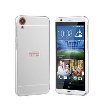 RUILEAN Luxury Metal Aluminum Bumper Frame and Acrylic PC Hard Back Panel Case for HTC Desire