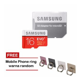 Samsung MicroSDHC Evo Plus 16GB / 80MB/s with Adapter - Merah + iRing Mobile