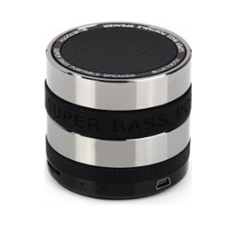 Harga Universal Audio Mini Metal Super Bass Portable Bluetooth Speaker - S302 - Hitam