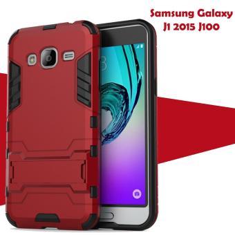 Case Iron Man for Samsung Galaxy J1 Ace Robot Transformer Ironman Limited - Merah