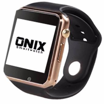 Harga Onix Smartwatch - A1 / U10 Apple Watch Look Like - Gold Strap Black