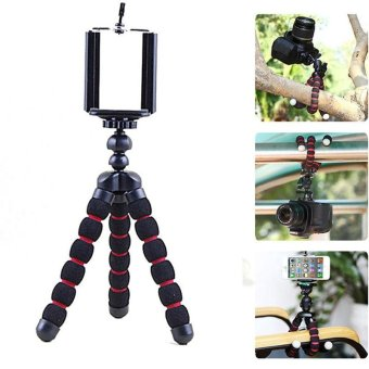 Harga Octopus Stand Tripod Mount + Phone Holder for iPhone Cell Phone Digital Camera Chic - intl