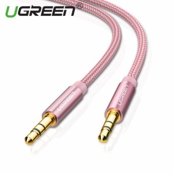 Harga UGREEN 3.5mm to 3.5 mm Jack Aux Cord Gold-Plated Metal Connector Audio Cable - 2m,Rose Gold - intl