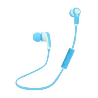 Harga Headset Bluetooth nirkabel universal di dalam headphone (Biru)-