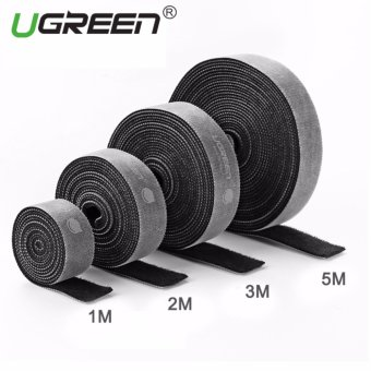 Harga UGREEN Loop Wraps Reusable Fastening Cable Ties Straps Strips for Cords Wire Management - 3M - intl