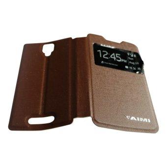 Aimi Lenovo A1000 Flipshell Flipcover Sarung Case Coklat .