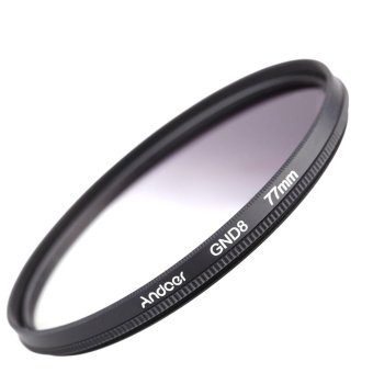 Andeor 77mm Circular Shape Graduated Neutral Density GND8 Graduated Gray Filter for Canon Nikon DSLR Camera - intl