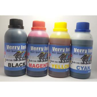 Harga Tinta Epson Isi Ulang 250ml Verry Ink 1 Set 4 Warna (Bonus Suntikan + Jarum)