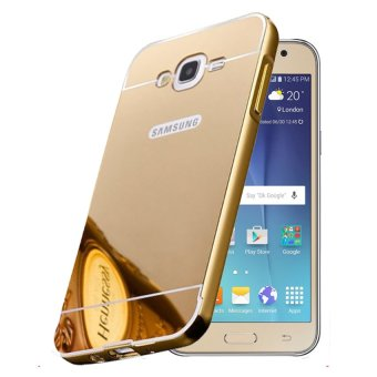 Case for Samsung Galaxy Grand (I9082) Alumunium Bumper With Mirror Backdoor Slide- Emas