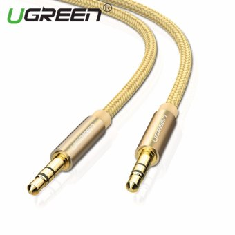 Harga UGREEN 3.5mm to 3.5 mm Jack Aux Cord Gold-Plated Metal Connector Audio Cable - 2m,Gold - intl